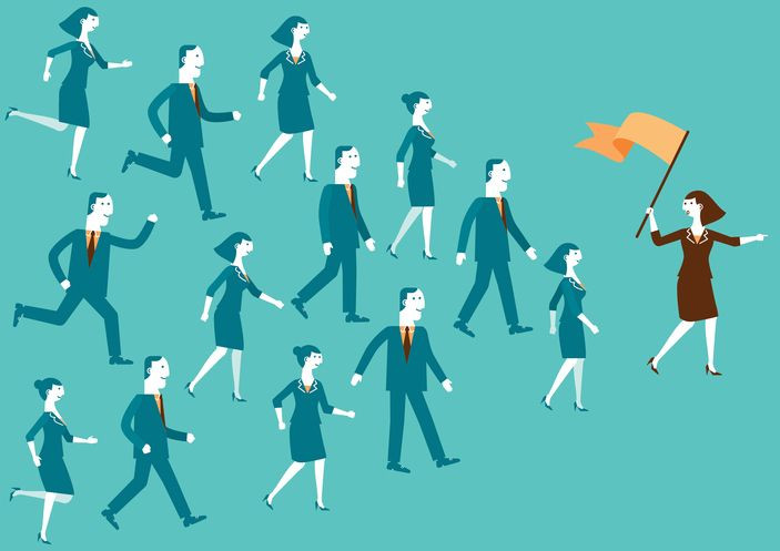 Influence people at work with lead from the front attitude