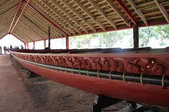 Waka canoe of the early New Zealand culture