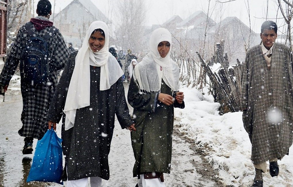 The cold climate of kashmir