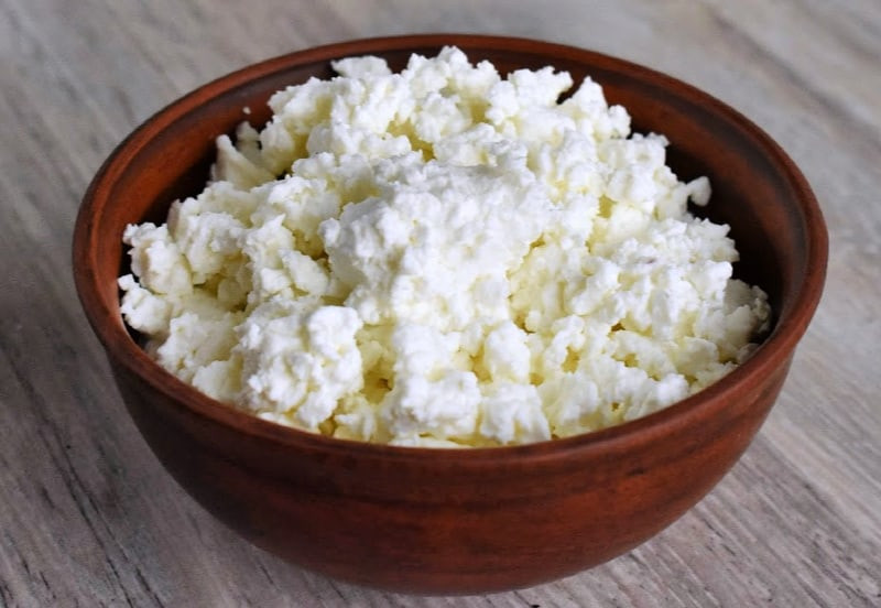 cottage cheese helps to gain muscle mass