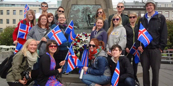Picture  showcasing Icelander's love for their nation