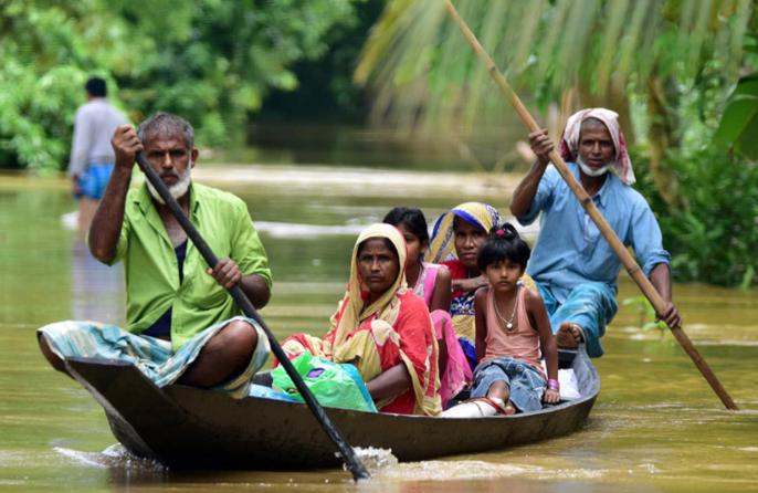 Sufferings from Assam Floods