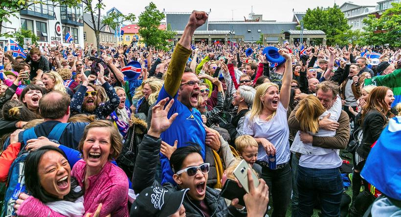Icelanders unites and exults for their National Sporting team