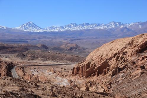Blick auf Atacamawüste