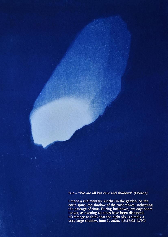 Fig 10, 'Blueprints for Lockdown: Sun', 21 x 27cm, digital print of cyanotype, 2020