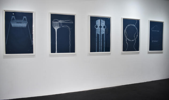 Fig 2, Installation of 'Draft' drawings at Gallery 46, 2018