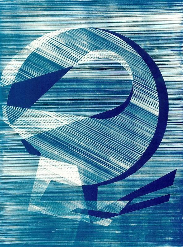 Fig 3, 'Schema 04', 34 x 47 cm, cyanotype print, 2019