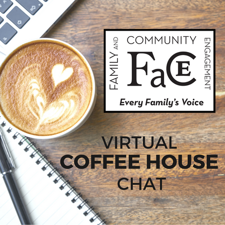 Join us for the next FACE Coffeehouse