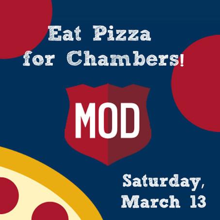 March MOD Pizza Fundraiser on Saturday!