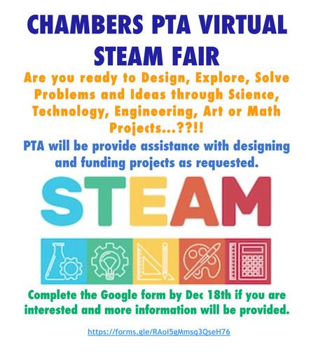 Get Ready for the Virtual STEAM Fair!