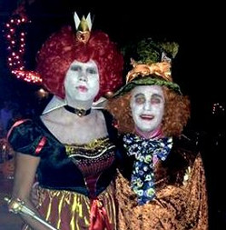 Mad Hatter and Queen of Hearts at Halloween