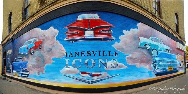 Jim Richter's Mural downtown Janesville.