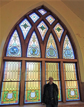 Richard and the 18 restored stained glas