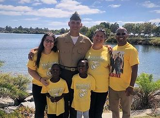 Entire family at son Keaton's Marine Gra