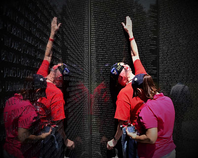 WWII Veteran with son name on Vietnam Wall (2014) (002).jpg