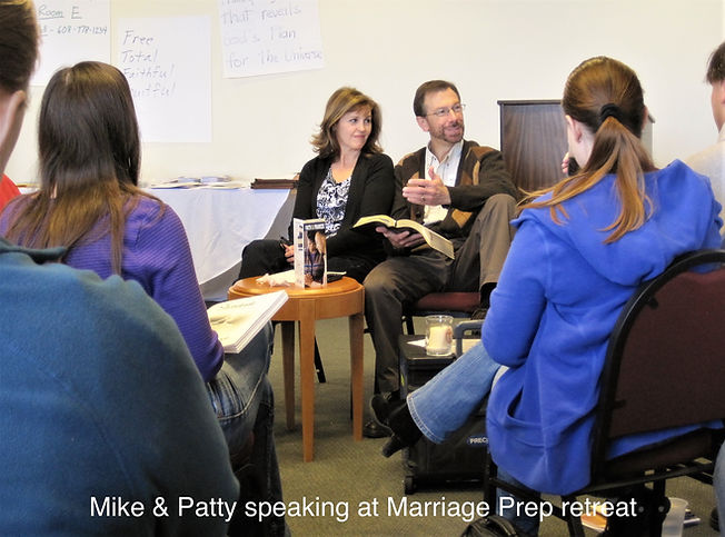 Mike & Patty speaking at Marriage Prep r
