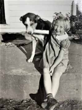 Nancy & newspaper dog.jpg