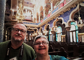 Frank and Edna in Prague at the Jerusale