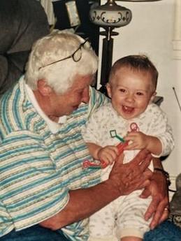 With grandson, Ben
