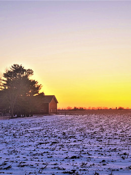 Winter sunset over The Good Acres