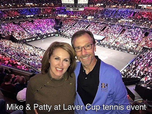 Mike & Patty at Laver Cup Tennis event.J