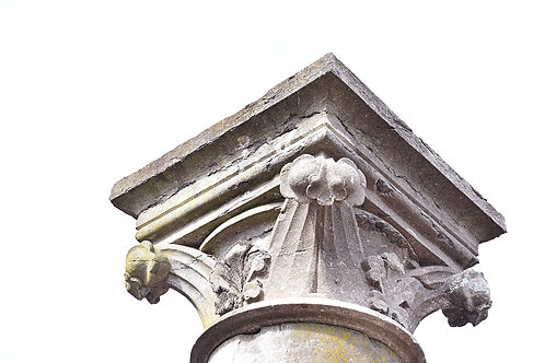 Koppel : Gotische zuilen met oranementen