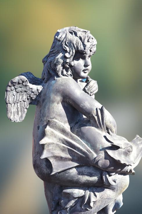 Fonteinbeeld : Engel met de draak