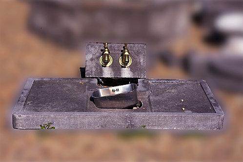 Dubbel waterpomp met kraan