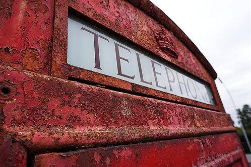 Authentieke Engelse telefooncel
