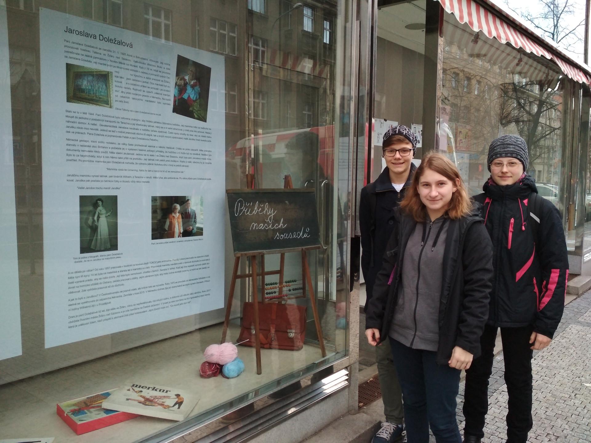 Team with exhibition about Jarmila Dolezalova