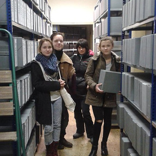 Students in archives