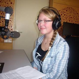Recording stories in Czech radio