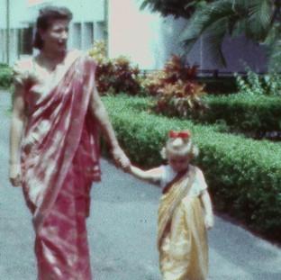 Czech lady in Indian dress