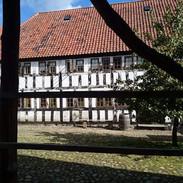 Moc se mi líbí nakukovat do dvorků jednotlivých domů a prozkoumávat, co tam je.