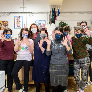 Team from Czech National Theatre helped us with masks
