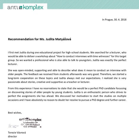Recommendation from NGO Antikomplex