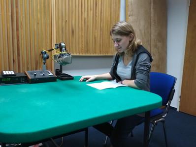 Member of team recording story of Jarmila