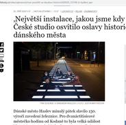 Výročí dánského města parádně nasvítila česká firma