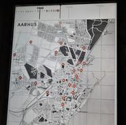 Interaktivní mapa Aarhusu. Stačí kliknout na jednotlivé body a dozvíte se, kde byly jaké aktivity odbojářů.