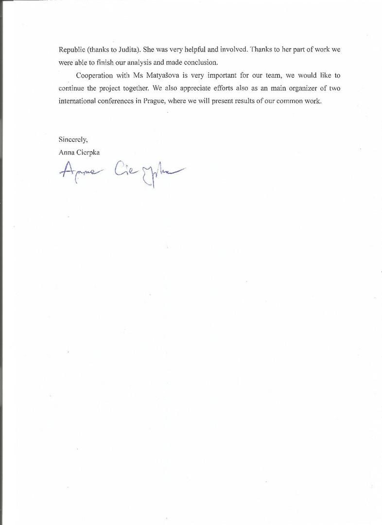 Letter from Warsaw University II.