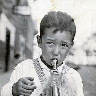 Hugo as a child