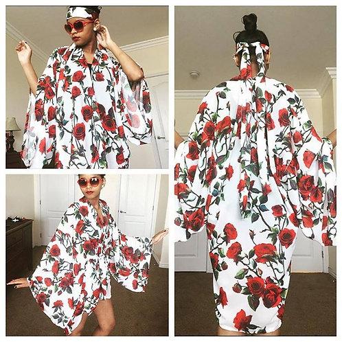 Rose Kimono with Head Piece (ADULT MEDIUM)