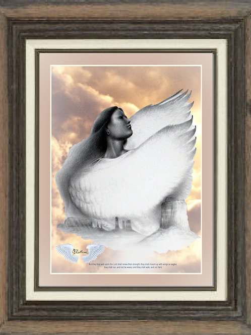 """With Wings as Eagles"" LTD Edition print 16""x20"""