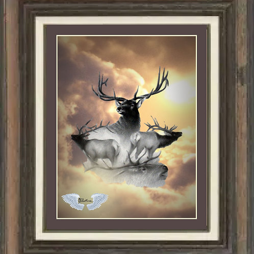 "Realm of The Elk LTD Edition Print 16"" x 20"""
