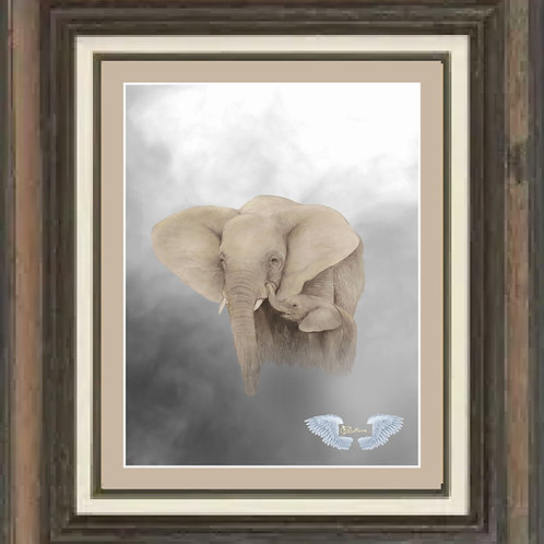 """Elephant and Calf"" LTD Edition print 16""x20"""
