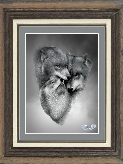 """Wolf Triad"" LTD Edition print 16""x 20"""