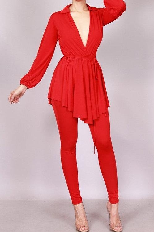 Dress Shirt & Legging Set