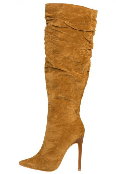 KNEE HIGH BOOTS -CHESTNUT