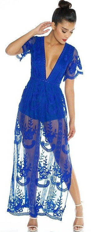 Lace Detailed Royal Dress