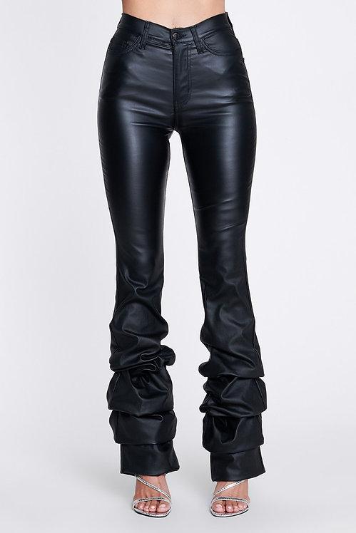 Leather Like Scrunch Pants